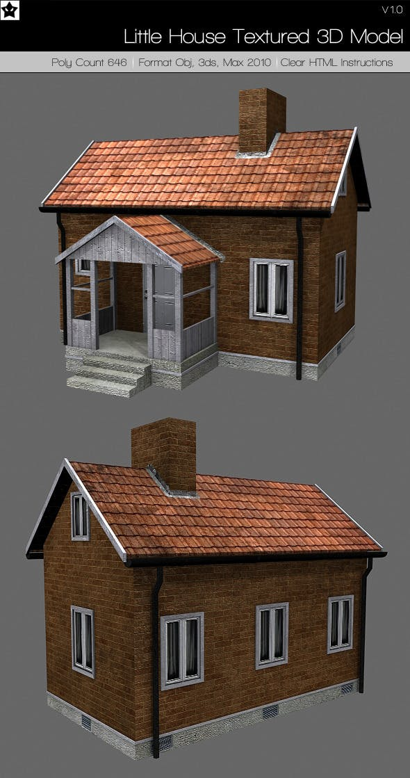 Little House Textured 3d model