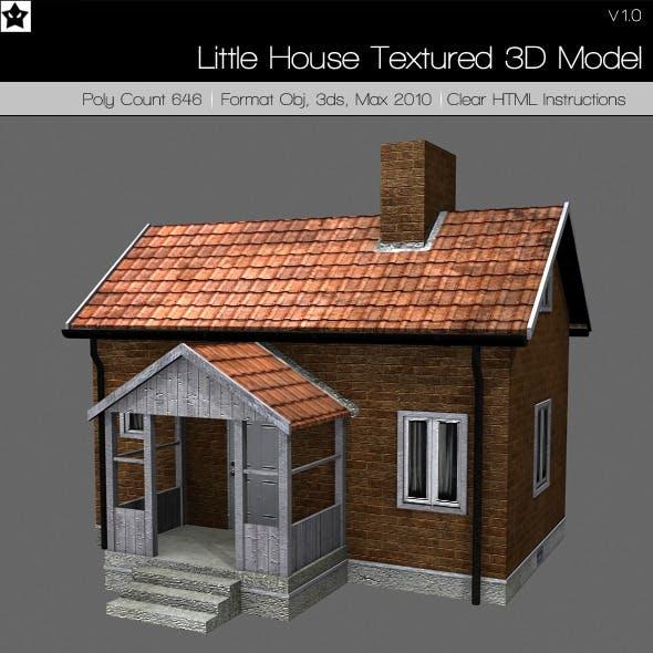 Little House Textured 3d model