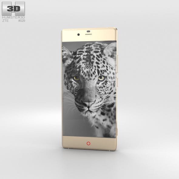 ZTE Nubia Z9 Gold - 3DOcean Item for Sale