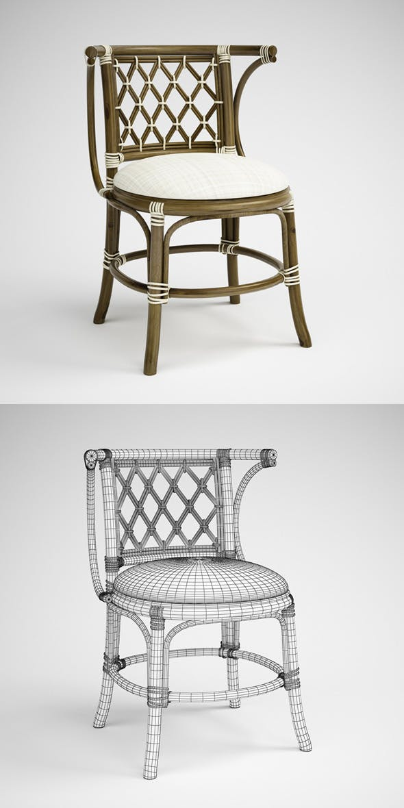 CGAxis Rattan Chair 01 - 3DOcean Item for Sale