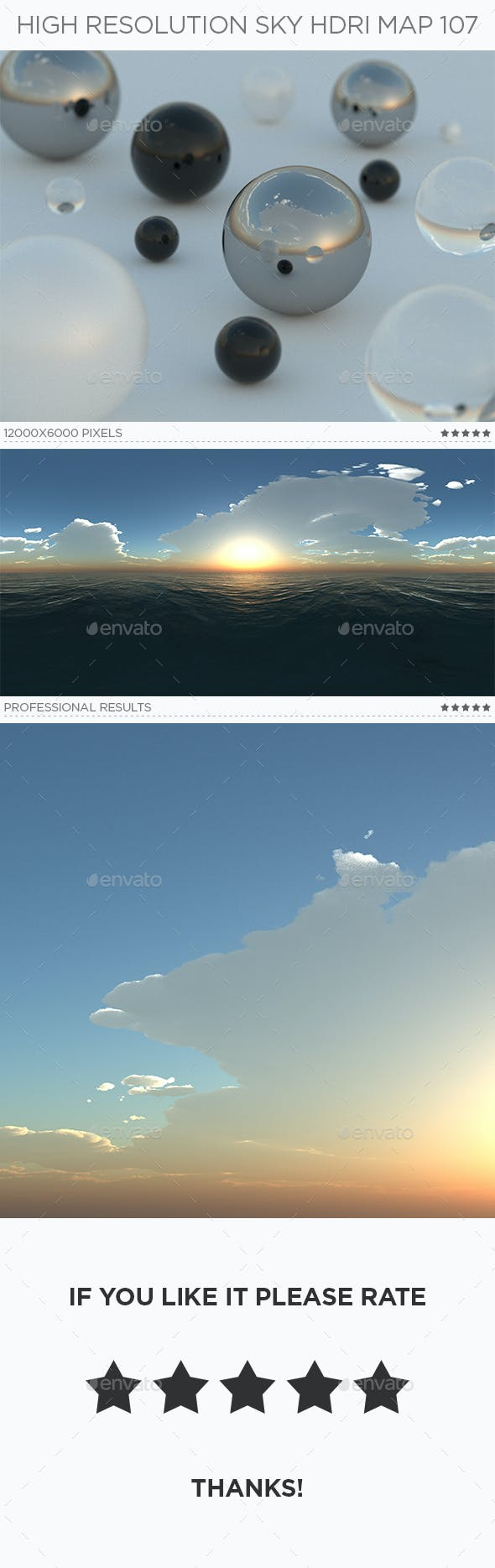 High Resolution Sky HDRi Map 107 - 3DOcean Item for Sale