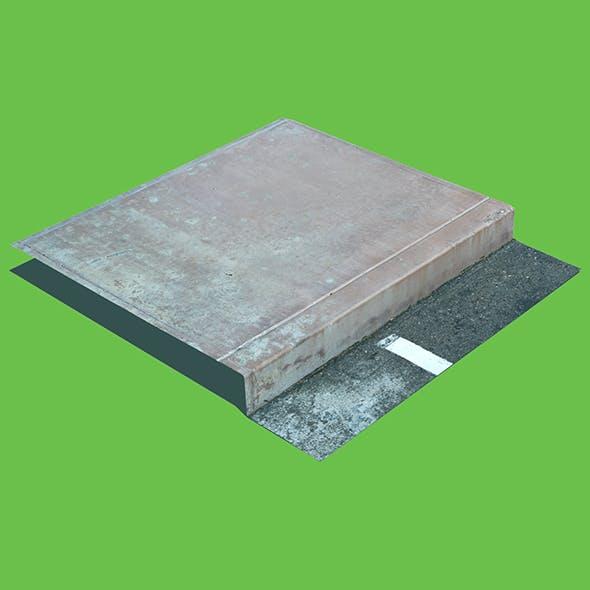Concrete Sidewalk Curb