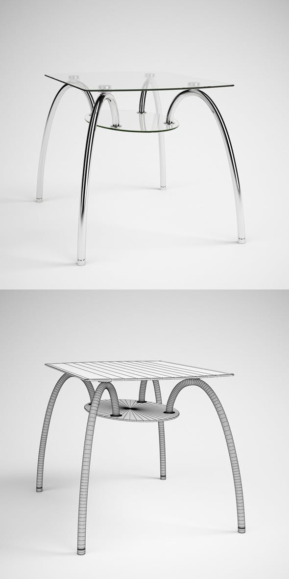 CGAxis Glass & Chrome Table 06 - 3DOcean Item for Sale