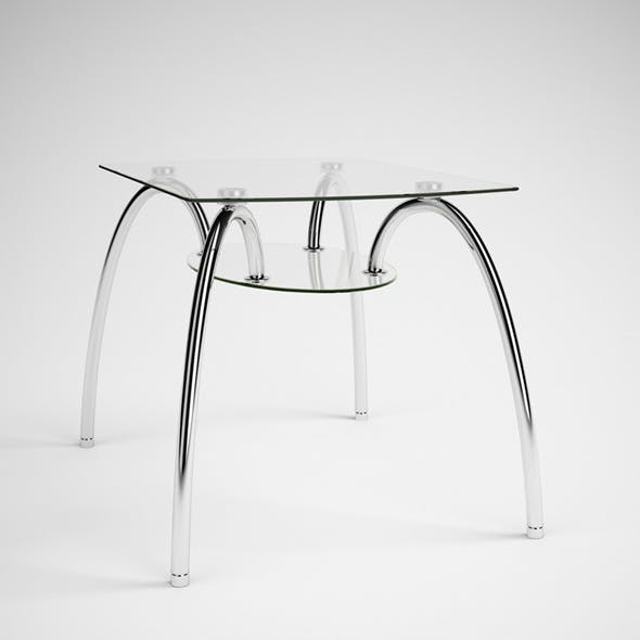 CGAxis Glass & Chrome Table 06