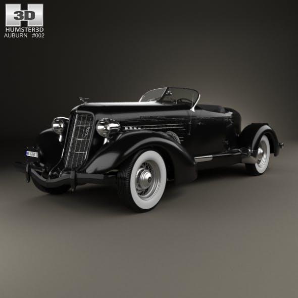 Auburn 851 SC Boattail Speedster 1935 - 3DOcean Item for Sale