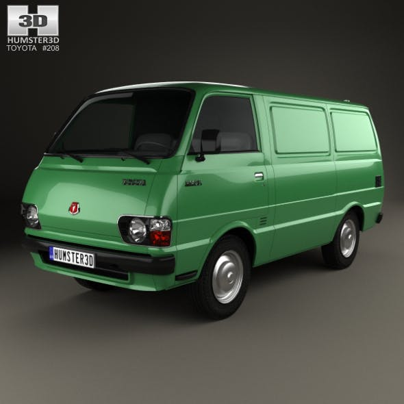 Toyota Hiace Panel Van 1977 - 3DOcean Item for Sale
