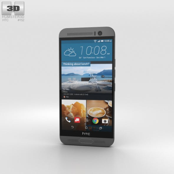 HTC One M9+ Gunmetal Gray - 3DOcean Item for Sale