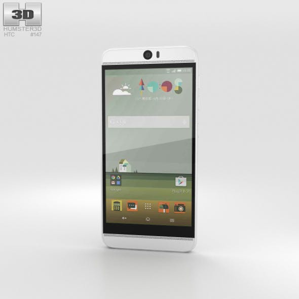 HTC J Butterfly 3 White - 3DOcean Item for Sale