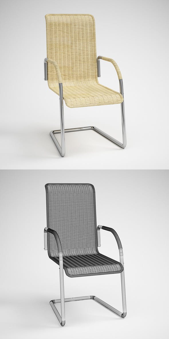 CGAxis Wicker Rattan Chair 22 - 3DOcean Item for Sale