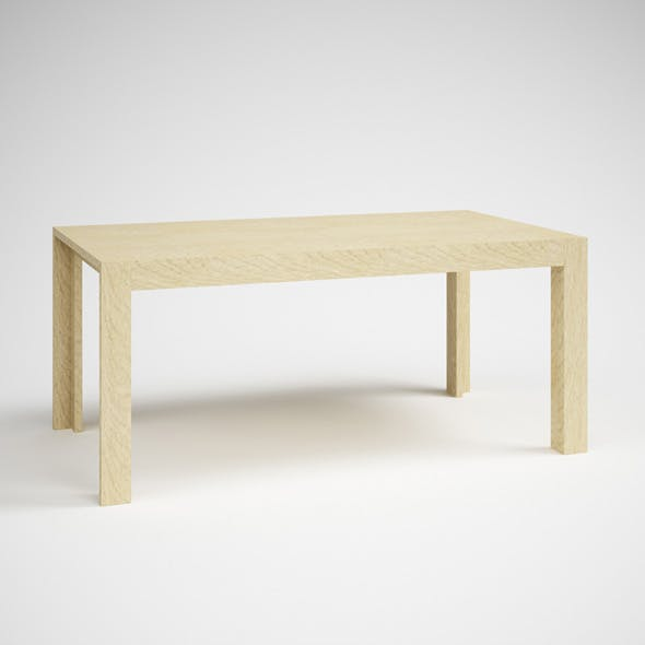 CGAxis Wooden Parsons Table 23
