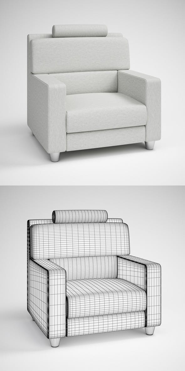 CGAxis Modern Armchair 24 - 3DOcean Item for Sale