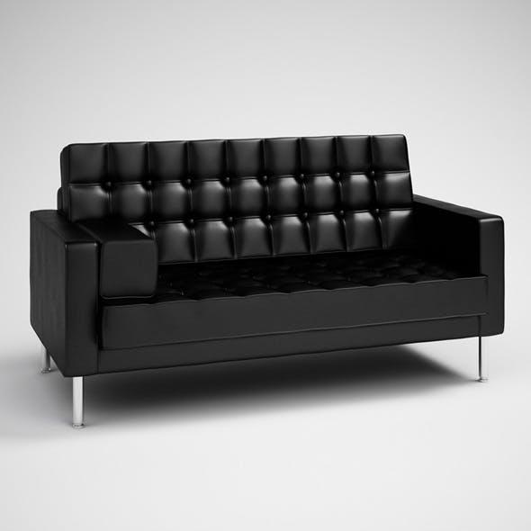 CGaxis Black Modern Sofa 27