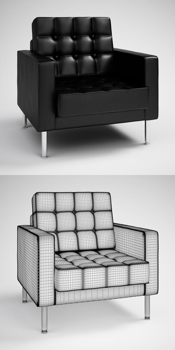 CGAxis Black Modern Armchair 28 - 3DOcean Item for Sale