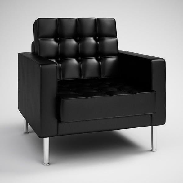 CGAxis Black Modern Armchair 28