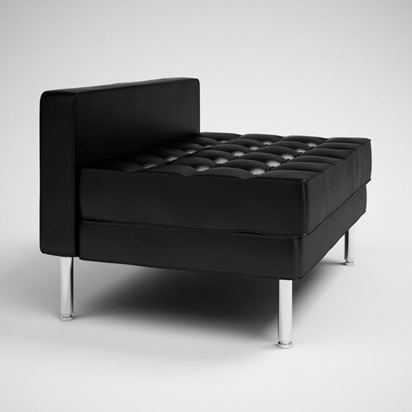 CGAxis Black Modern Daybed 29