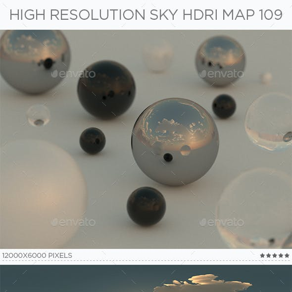 High Resolution Sky HDRi Map 109