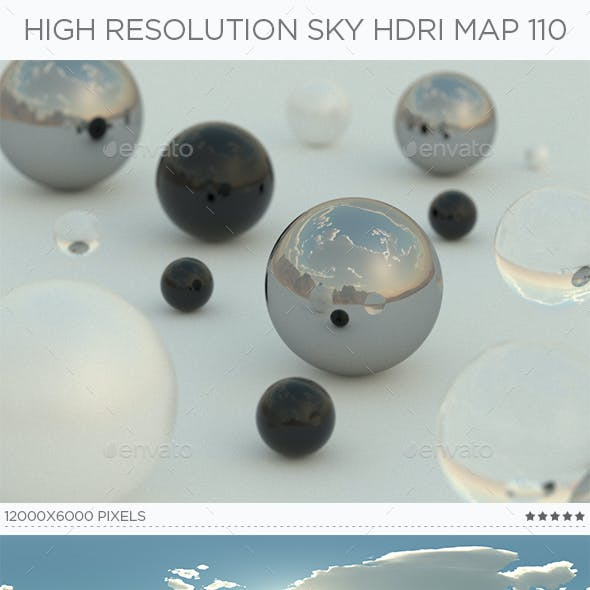 High Resolution Sky HDRi Map 110