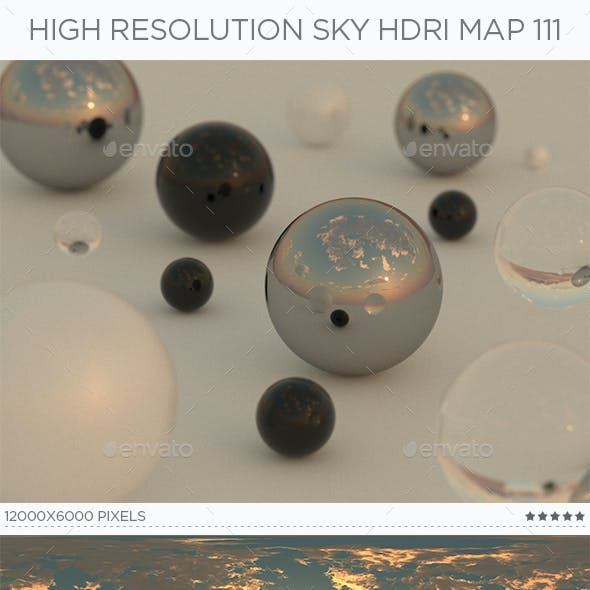 High Resolution Sky HDRi Map 111