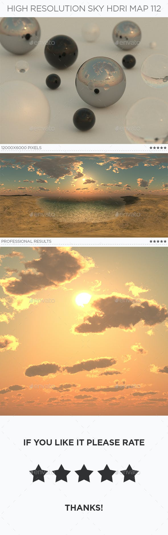High Resolution Sky HDRi Map 112 - 3DOcean Item for Sale