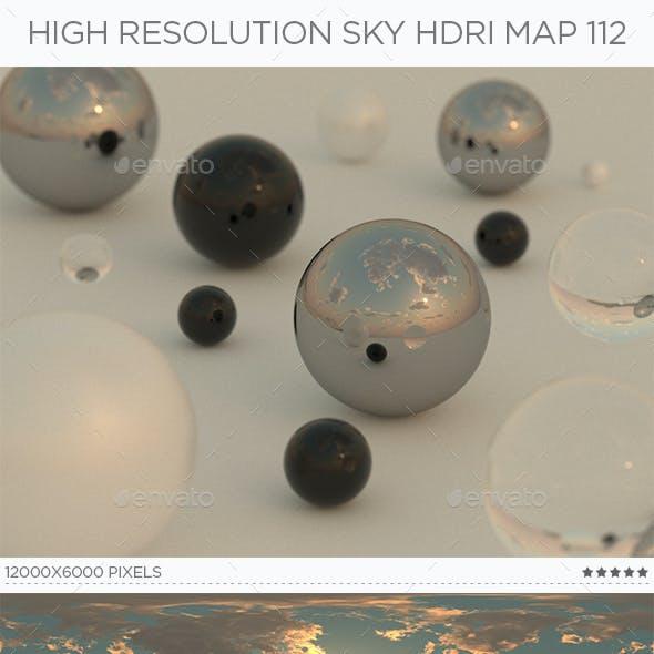 High Resolution Sky HDRi Map 112