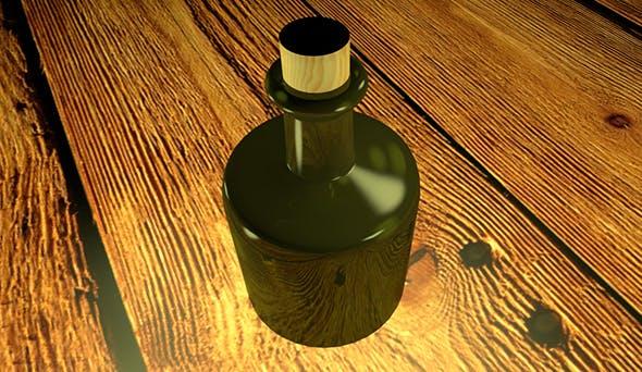 An empty bottle of rum - 3DOcean Item for Sale