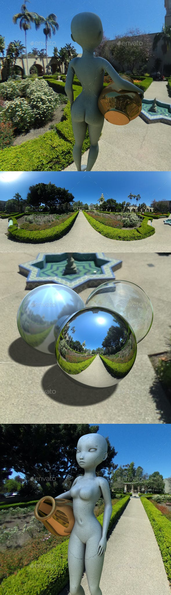 Alcazar Park Gardens HDRI - 3DOcean Item for Sale