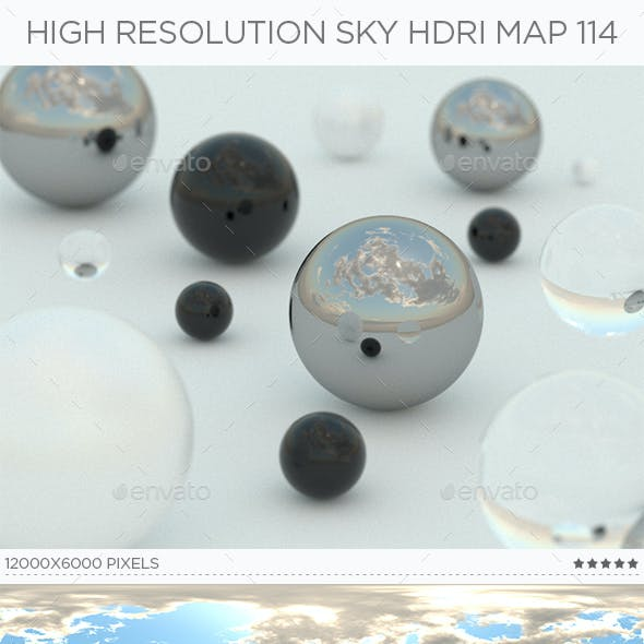 High Resolution Sky HDRi Map 114