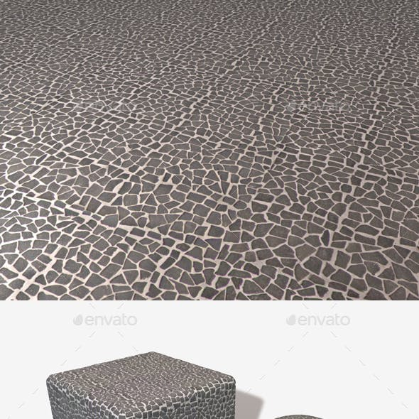 Grey Mosaic Pebbles Seamless Texture