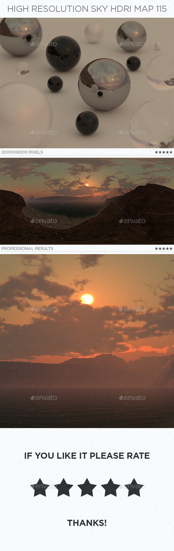High Resolution Sky HDRi Map 115 - 3DOcean Item for Sale