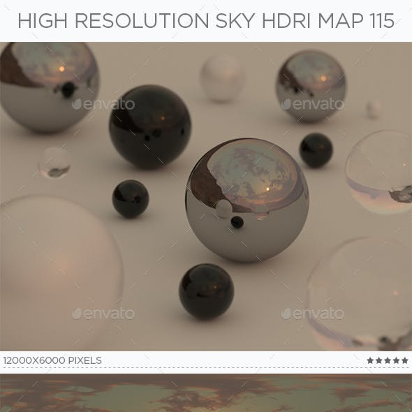 High Resolution Sky HDRi Map 115