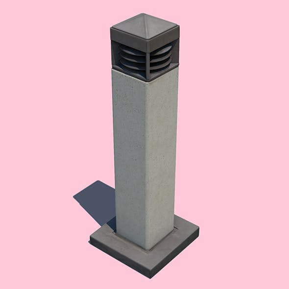 Bollard Light - 3DOcean Item for Sale