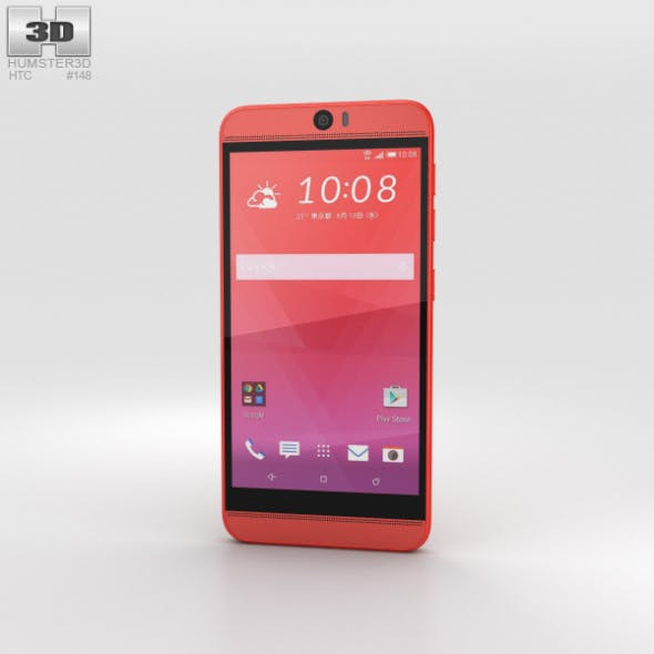 HTC J Butterfly 3 Red - 3DOcean Item for Sale