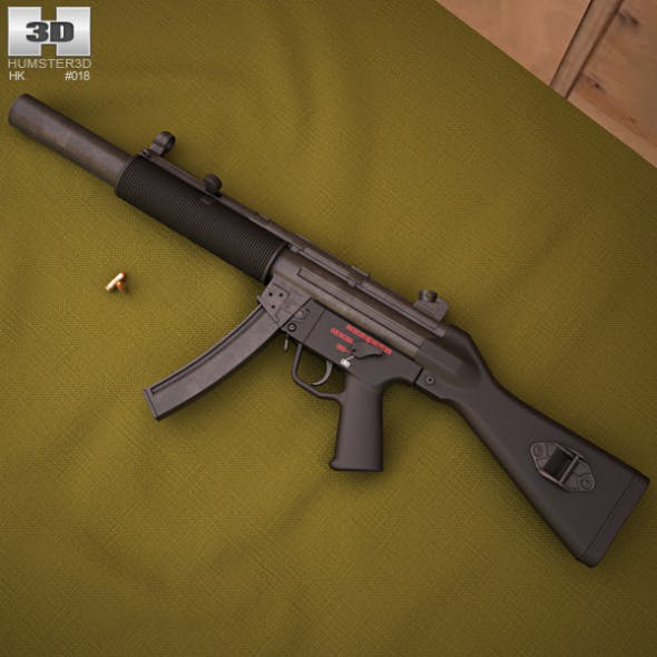 Heckler & Koch MP5SD - 3DOcean Item for Sale