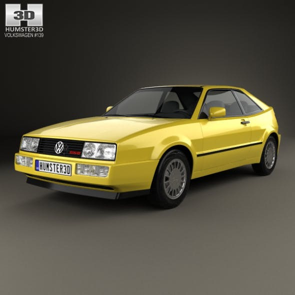 Volkswagen Corrado G60 1988 - 3DOcean Item for Sale