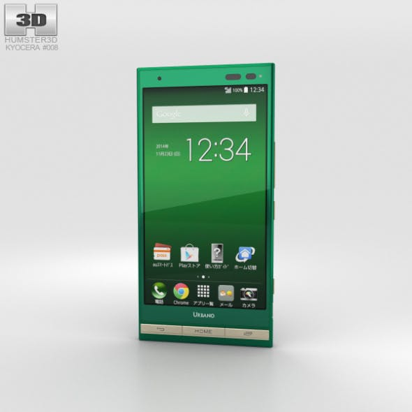 Kyocera Urbano V01 Green - 3DOcean Item for Sale