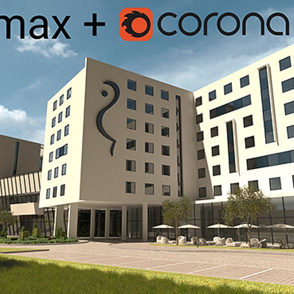 3dsmax + Corona Render Ready scene with day light setup