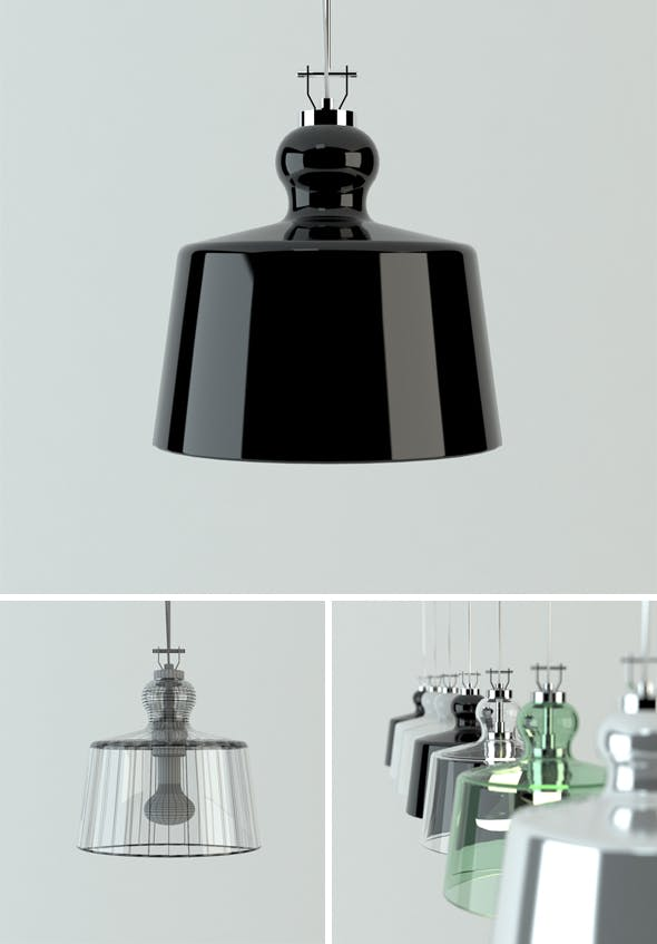Acquatinta pendent lamp - 3DOcean Item for Sale