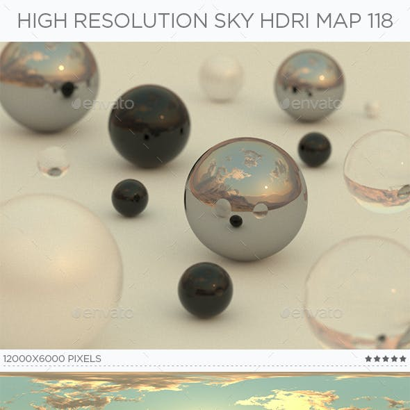 High Resolution Sky HDRi Map 118
