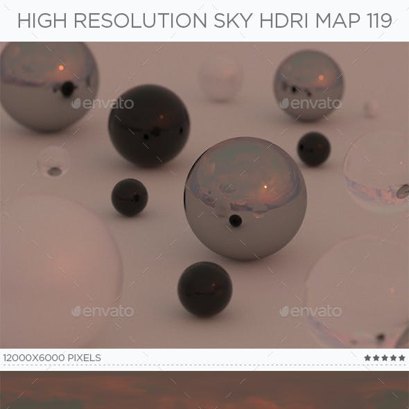 High Resolution Sky HDRi Map 119