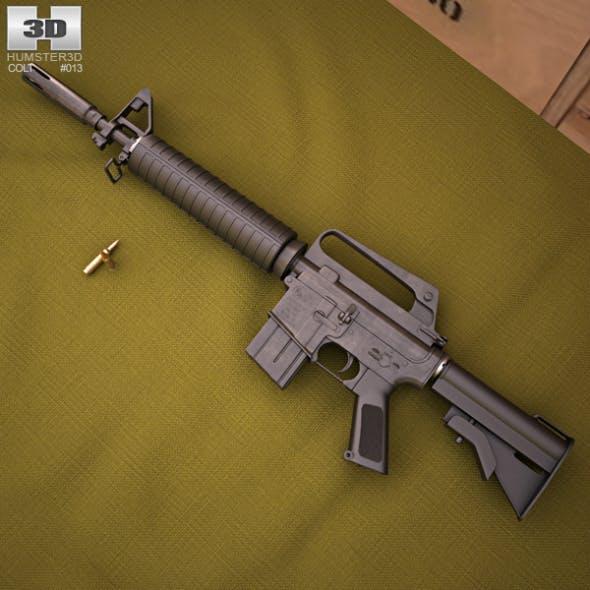 CAR-15 Commando - 3DOcean Item for Sale