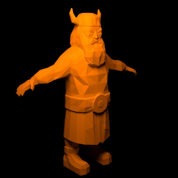 Lowpoly Viking