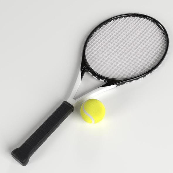Tennis Ball and Racket set - 3DOcean Item for Sale