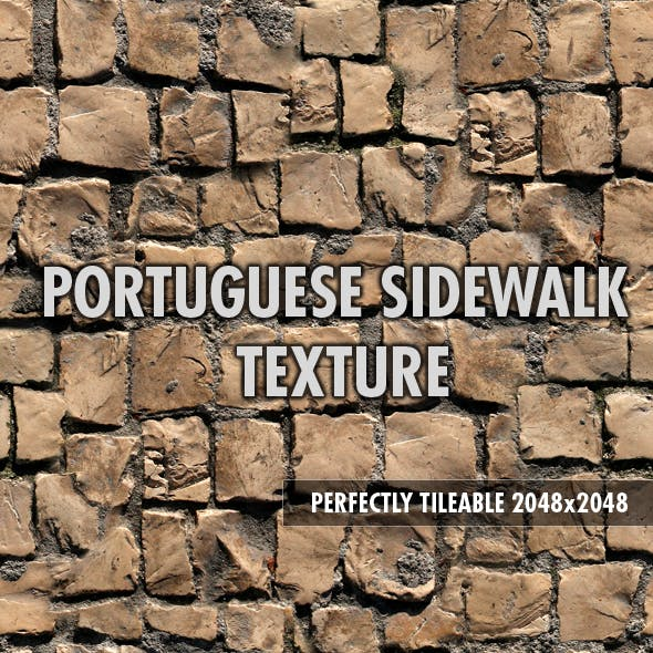 Portuguese Sidewalk - 3DOcean Item for Sale