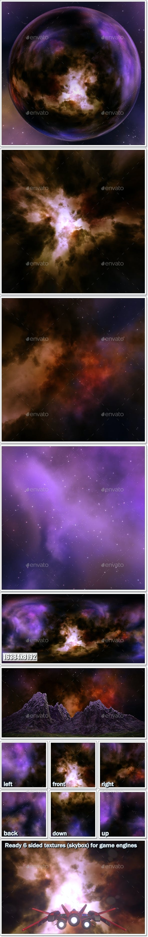 Nebula Space Environment HDRI Map 002 - 3DOcean Item for Sale