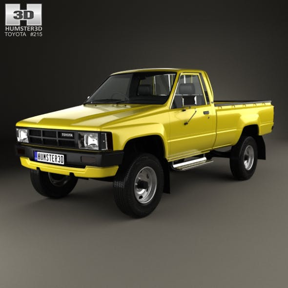 Toyota Hilux DX Long Body 1983 - 3DOcean Item for Sale