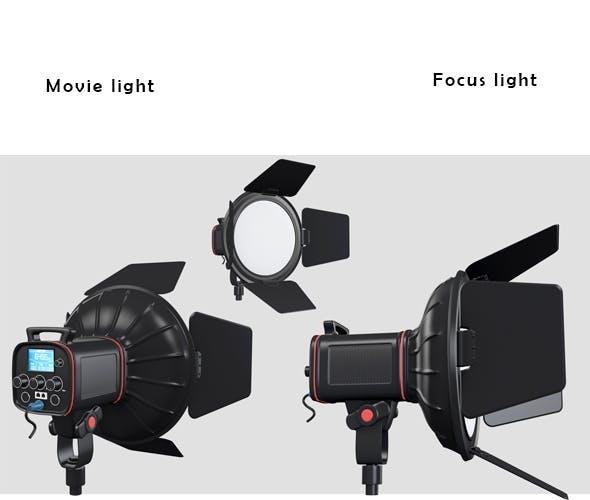 Movie light - 3DOcean Item for Sale