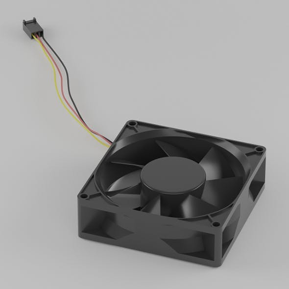Vray Ready Computer Chassis Fan - 3DOcean Item for Sale