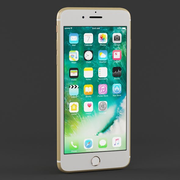 Vray Ready iPhone 7 Plus Gold - 3DOcean Item for Sale