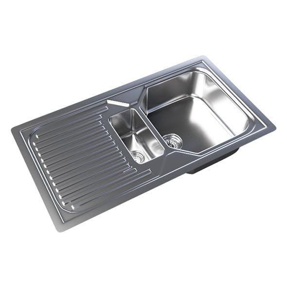 Vray Ready Metallic Kitchen Sink