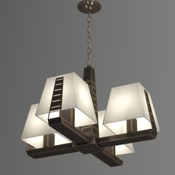 Vray Ready Modern Chandelier Light - 3DOcean Item for Sale